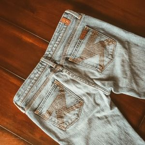 Light wash bootcut jeans